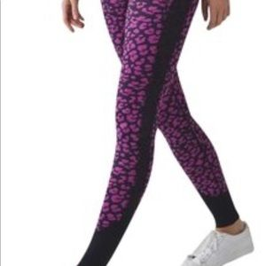 Lululemon Navy & Pink Leggings Size 8